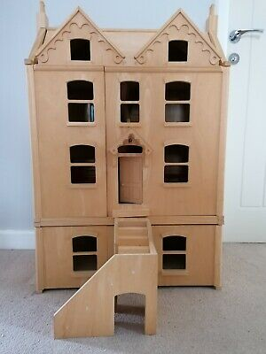 £0.99 • Buy Large Wooden Dolls House 90cm Tall With Furniture