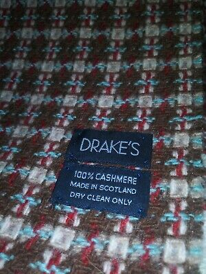 $99.99 • Buy Drakes Gentleman's 100% Cashmere Scarf Made In Scotland (12  X 64  ) Nwot