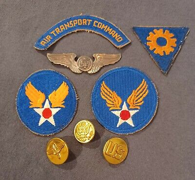 £11.09 • Buy WWII US Army Air Corps Grouping Tab Patch Wings Collar Insignia Air Crew WW2