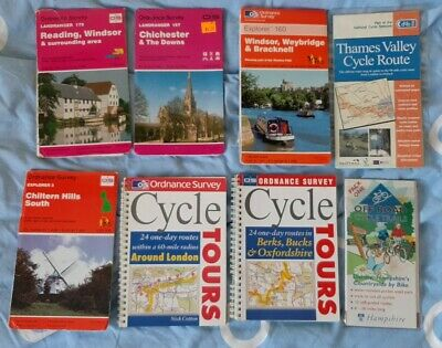 £5 • Buy OS Cycle Tours - London And Berks, Bucks, Oxford And OS Maps Of Area. Job Lot