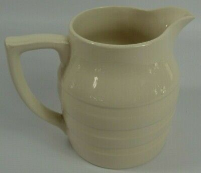 £4.99 • Buy Sadler England Cream White Water Jug Banded Pattern Approx 16.5cm Height
