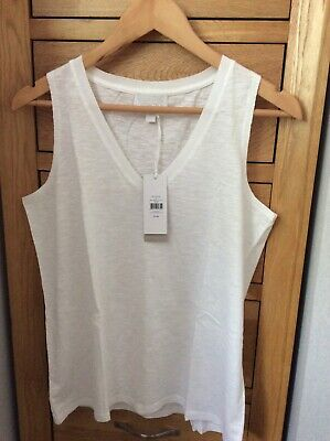 £5.99 • Buy The White Company White Cotton Top, Size 14. New With Tags. Still In Store.
