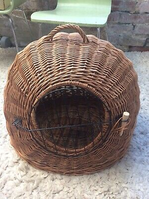 £48 • Buy Wicker Dome Basket Extra Large Strong Puppy Dog Cat Pet Carrier