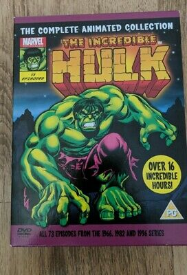 £70 • Buy The Incredible Hulk Complete 1966,1982 & 1996 Marvel Animated Collection 7 DVD