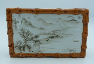 £1.70 • Buy 13.6cm Chinese Oriental Miniature Bamboo Style Table With Landscape Scene