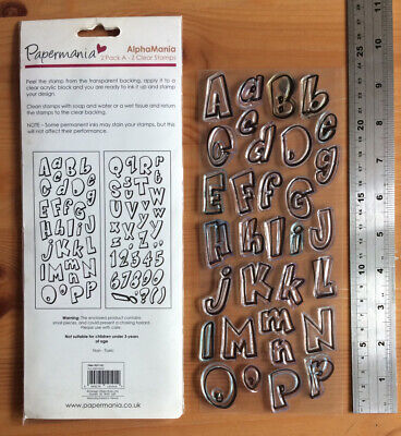 £1.99 • Buy Papermania AlphaMania Alphabet Rubber Stamps Craft Clear Out Card Making