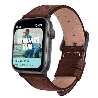 AU2.72 • Buy Leather Apple Watch Band Strap For IWatch Series 6 5 4 3 SE 38mm 40mm 42mm 44mm