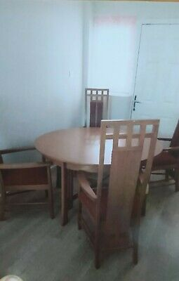 £300 • Buy Charles Rennie Mackintosh Dining Table And Chair Set