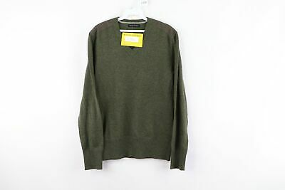$38.95 • Buy New Banana Republic Mens Small Casual Military V Neck Sweater Pitch Green Cotton