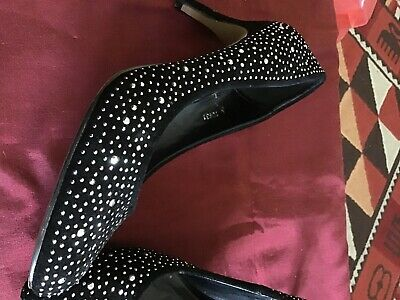 £0.99 • Buy Womens Shoes Size 5. Worn Once. Black Diamante.