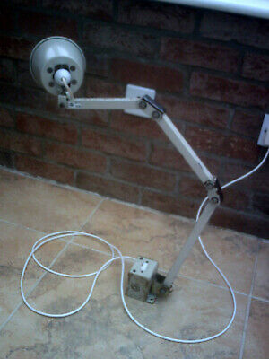 £59.99 • Buy Vintage Industrial Memlite Machinist Anglepoise Lamp WITH SWITCH