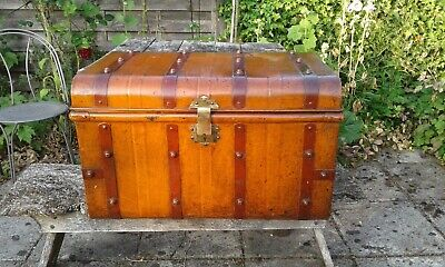 £25 • Buy Vintage Trunk Tin Chest Blanket Box Coffee Table