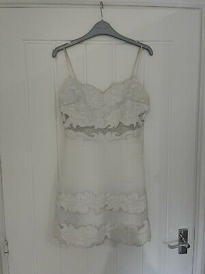 £30 • Buy White Topshop Boutique Lace Style Dress/top Size Uk 10 Leather Embroidery £195