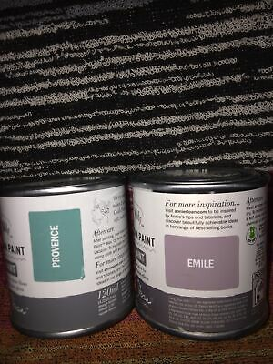 £22.99 • Buy Annie Sloan - Provence & Emile Chalk Paint- Small Project Tin-120ml Each Tin