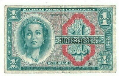 $4.99 • Buy 1964+ US MPC Military Payment Certificate 611 $1 Dollar Currency Note HMP0222831