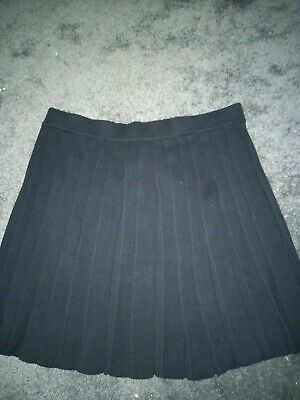 £8 • Buy Primark Knitted Kilt Style Pleated 18 Goth Black