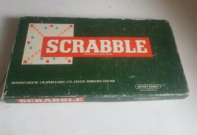 £12.95 • Buy Scrabble Board Game Spears Games 1955 Vintage Rare Words Letters Complete
