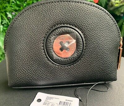 AU41 • Buy MIMCO Mim-mazing Small Black Rose Gold Pouch Clutch Bag AUTHENTIC New Leather