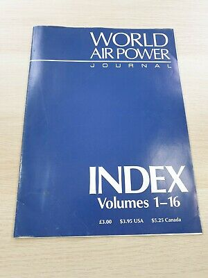 £3.99 • Buy World Air Power Journal: Index Volumes 1-16 Military Aircraft Aerospace 1993