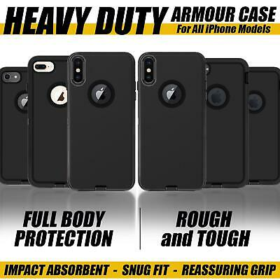 £3.99 • Buy For Apple IPhone X XS 7 8 6 6S 5S Plus ShockProof 360 Hybrid Armour Case Cover