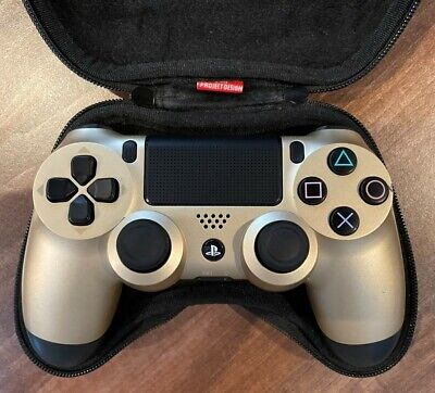 AU58.41 • Buy Official Playstation PS4 Dualshock 4 Controller (GOLD) With Controller Case