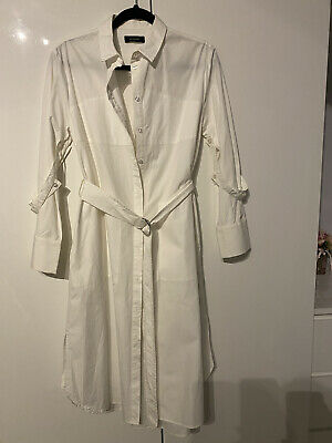 £1.20 • Buy Marks And Spencer Autograph White Dress With Belt Size 10