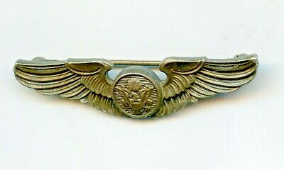 $34.99 • Buy Vintage Sterling Silver Airforce Wings WW2 Military Pinback 2 Inches