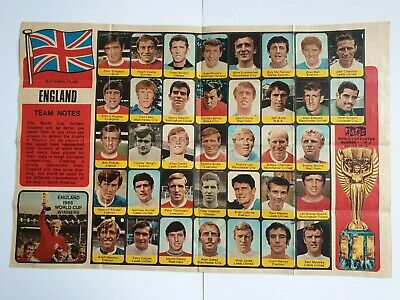 £4.99 • Buy A&bc Gum - Football Cards - 1970 World Cup Posters - England