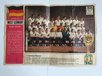 £1.99 • Buy A&bc Gum - Football Cards - 1970 World Cup Posters - West Germany
