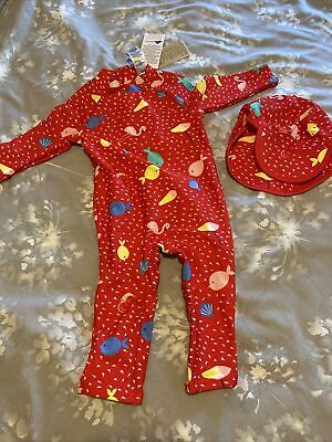 £5 • Buy Girls Brand New Marks And Spencer UV Suit/swimwear And Hat 9-12 Months