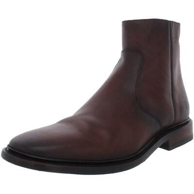 $201.15 • Buy Frye Mens Paul Leather Inside Zip Ankle Casual Boots Shoes BHFO 4320