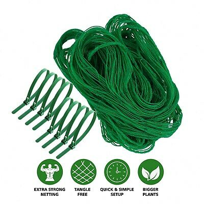 £6.49 • Buy Garden Pea And Bean Netting 4m Fruit Tree Butterfly Strawberry Netting + 8 Clip