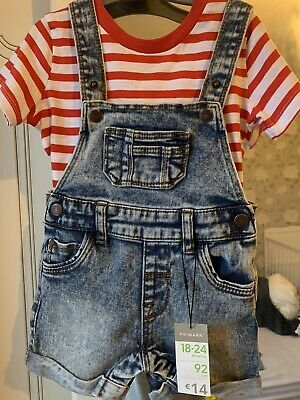 £4 • Buy Baby Boy Dungarees 18-24 Months