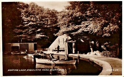 £5.95 • Buy Sheffield Postcard 1934 Real Photo Endcliffe Park Boating Lake People Yorkshire