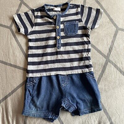 £0.99 • Buy Next Boys All In One Short Suit Age 6-9 Months
