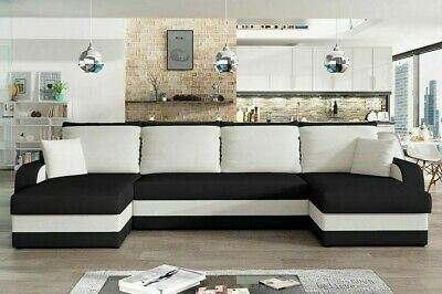 £599 • Buy Corner Sofa Bed KRIS U With 3 Storage Containers Symmetrical New