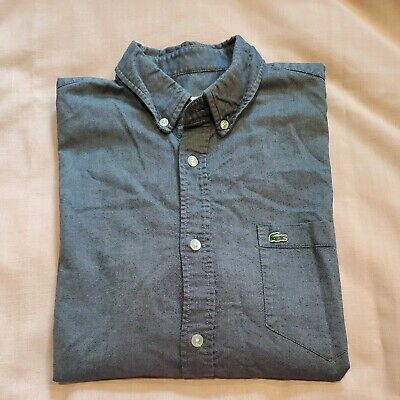 $25 • Buy LACOSTE Mens Classic Fit Long Sleeve Cotton Chambray Shirt Size 38