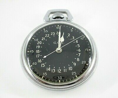 $399.99 • Buy Hamilton Navigation Master Military GCT WWII Open Faced 16S Pocket Watch C.1940s