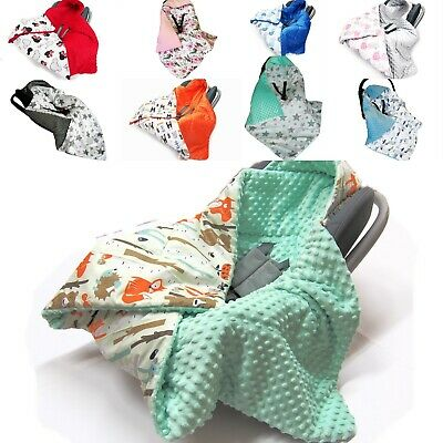 £25.99 • Buy Warm HOODED CAR SEAT PADDED BABY BLANKET * COVER * COSYTOES* PUSHCHAIR * BLANKET