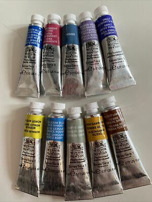 £16 • Buy 10x5ml Winsor And Newton Professional Watercolour Paints Series1-3-New