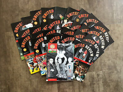 £2.99 • Buy Manchester United 28 HOME Programmes 1993-1994 In Fair Condition