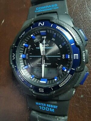 £30 • Buy Casio SGW-500H Twin Sensor Sunrise/Sunset World Time Compass Thermometer Watch