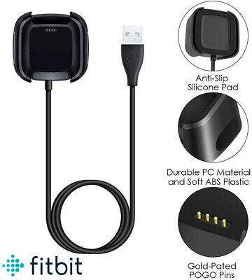 $ CDN10.24 • Buy USB Charging Cable Lead Power Charger Dock Cradle For Fitbit VERSA 2 Smart Watch