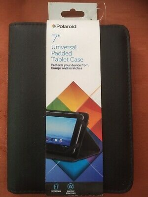"""£1.99 • Buy 7"""" Universal Padded Black Tablet Case By Polaroid Brand New"""