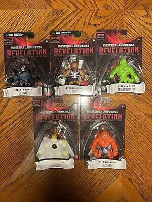 $23.80 • Buy Masters Of The Universe Revelation Eternia Minis Complete 5 Figure Lot