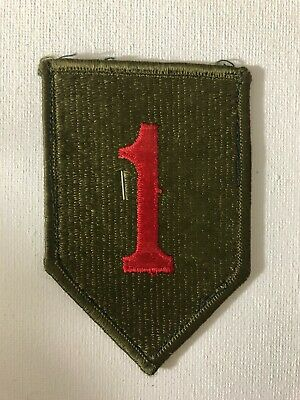 £7 • Buy US Army 1st Infantry Division Big Red One Shoulder Sleeve Insignia Patch