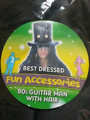 £3.99 • Buy Slash Fancy Dress Top Hat, Wig And Inflatable Guitar.New.