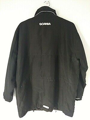 £36.99 • Buy SCANIA Mens Black Fleece Lined Heavyweight Jacket Size Large Good Condition