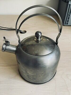 £5 • Buy Steel Stove Top Whistling Kettle, Camping Festivals Rustic