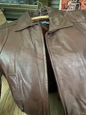 $18 • Buy Wilsons Leather Thinsulate Insulation Distressed Leather Bomber Jacket Large